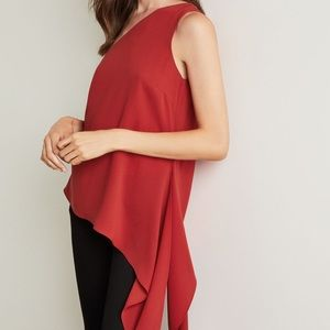 ✨BCBG Cerise One-Shoulder Asymmetrical Top✨